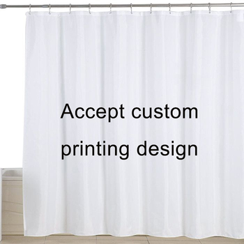 Antibacterial and Mildew Resistant Waterproof Custom Design Printed Shower bathroom Curtains