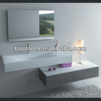 Modern modified acrylic solid surface hand carved kitchen wash basin