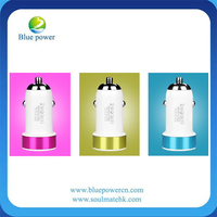 Hot Selling Colorful USB Metal Mini Car Charger for Mobile Phone Factory Wholesale Low Price Car Charger