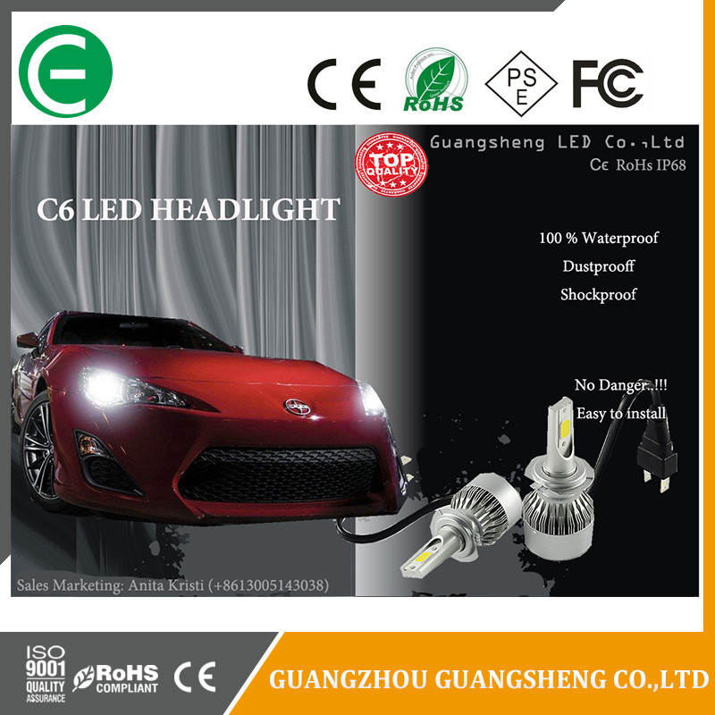 Manufacturer china C6 headlight Led fog light fog lamp yellow 3000K white 6000K H1 H3 H4 H7 for all cars