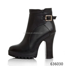 THICK HEEL MOTOCROSS BOOTS ,HIGH HEEL ANKLE BOOTS FOR WOMEN