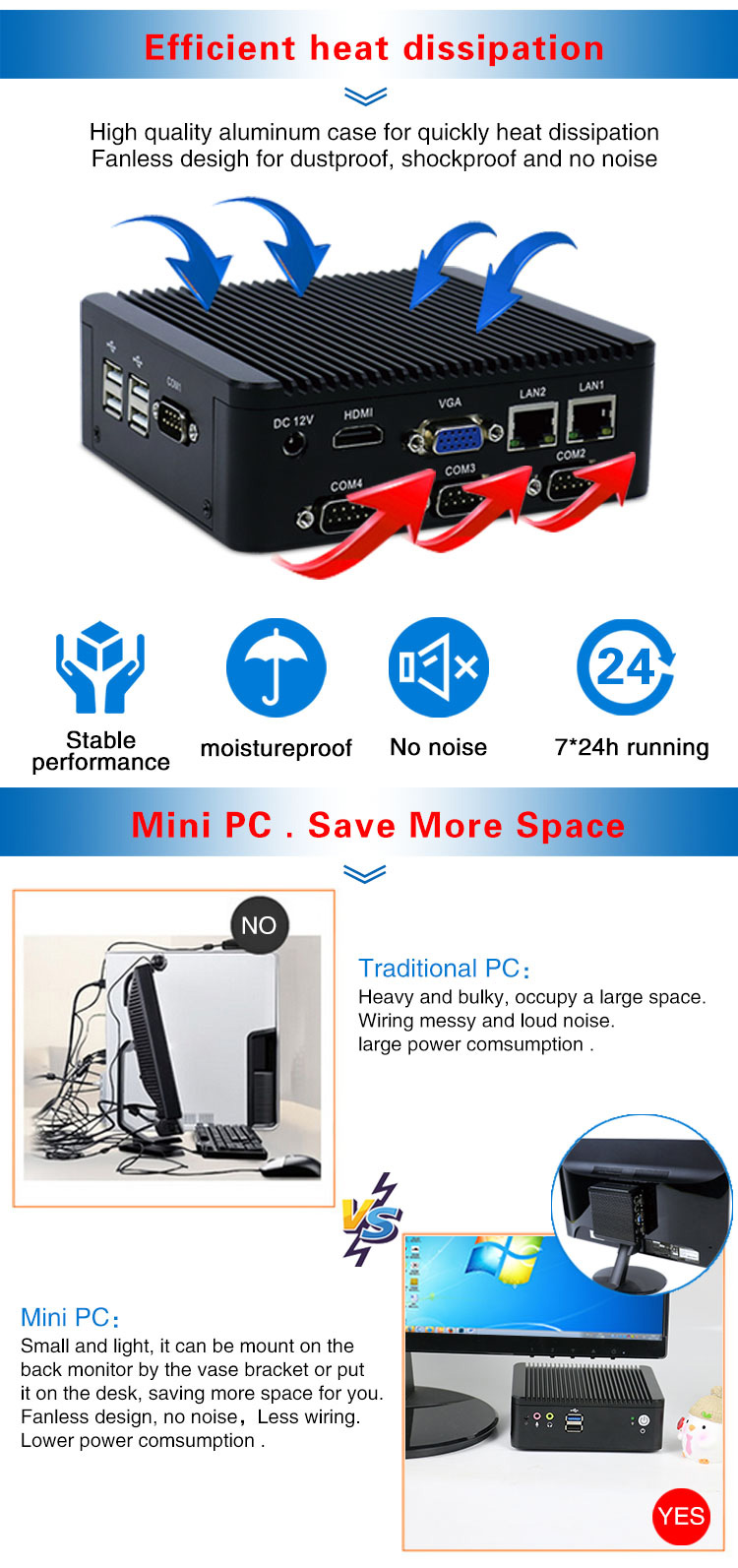 Low power mini pc