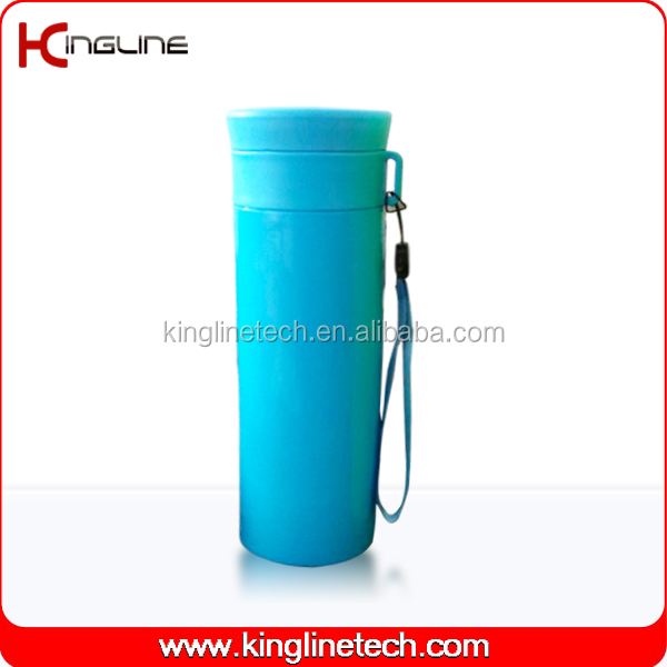 600ml double layer plastic cup with lanyard (KL-5020)