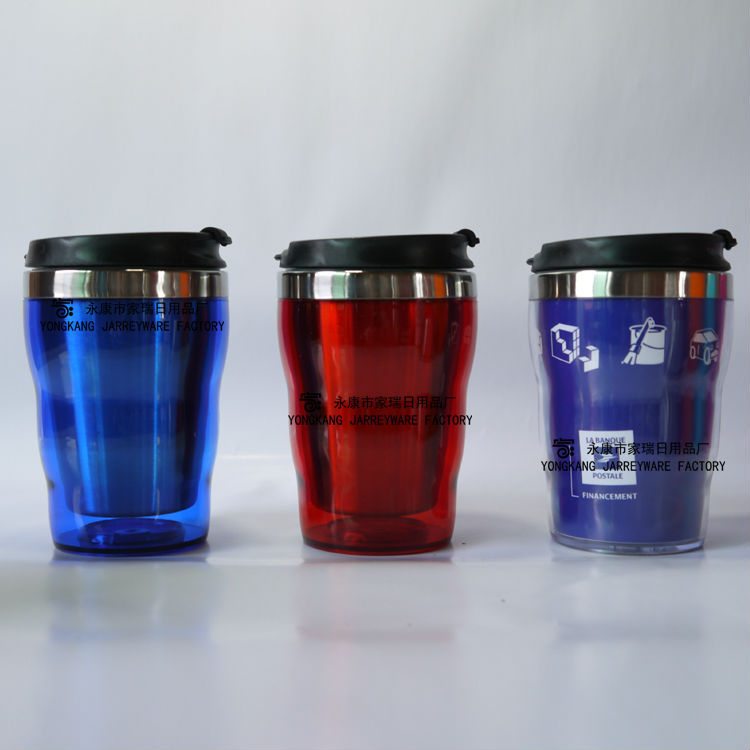 New Design Double Wall Auto Mug With Leakproof Lid