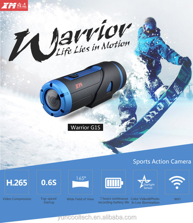 Warrior Full Hd <strong>1080p</strong> Sport Action Camera Diving 5m Waterproof Extreme Cam H.264/H.265 <strong>G</strong>-senor Sport Dv Helmet Action Camera