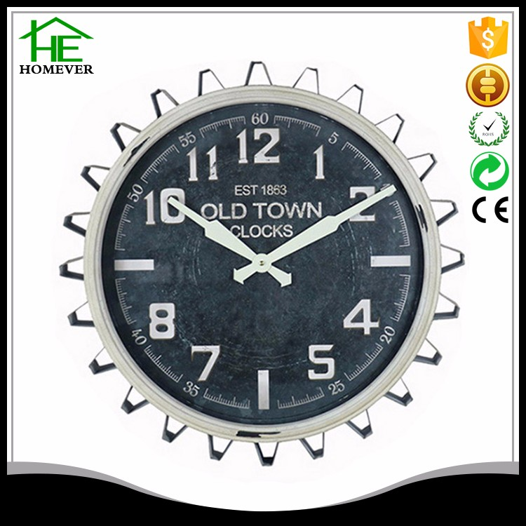gear design home decoration wall clock wholesale