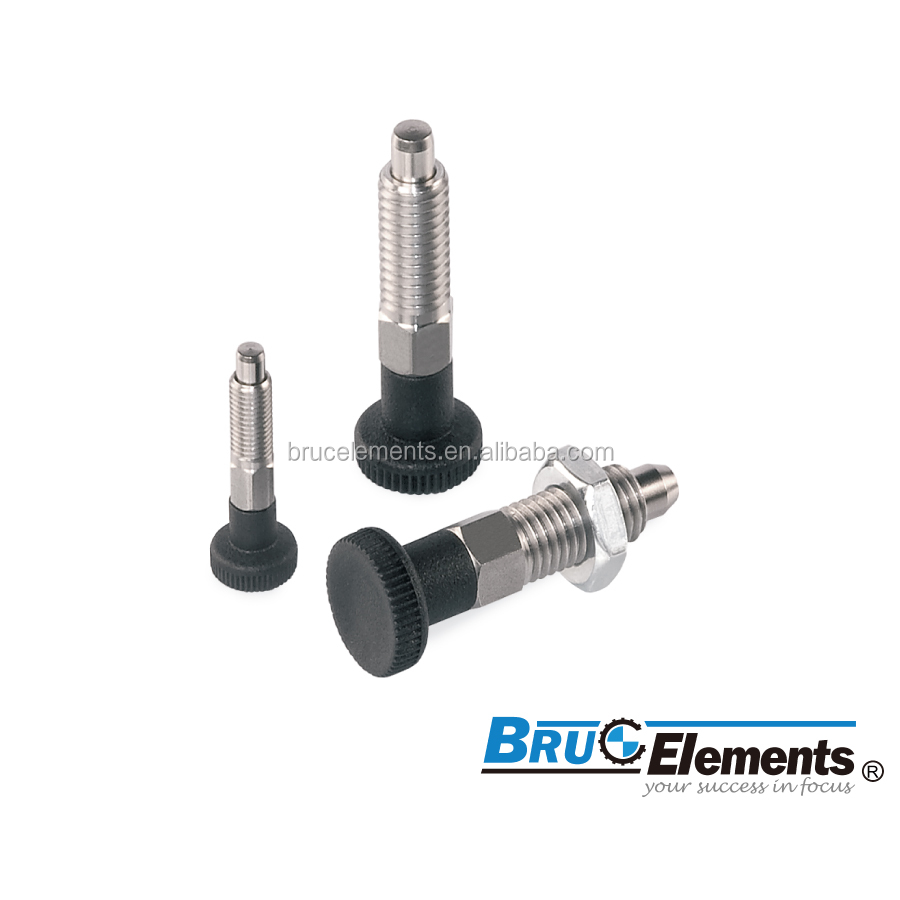 Steel or Stainless Steel Index Plunger without stop BK29.0032/29.0033INOX