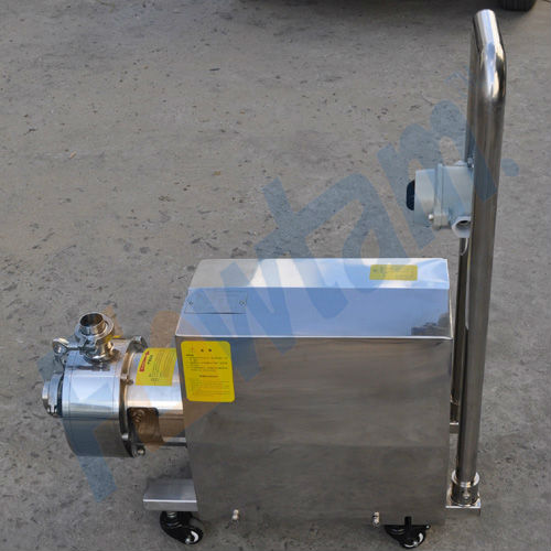 movable inline high shear mixer with funnel