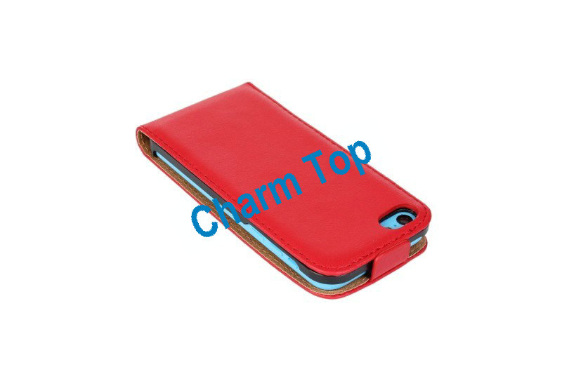 2013 Hot Sale leather flip case for iphone 5c
