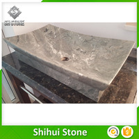 Customized granite one piece bathroom sink and countertop with great price