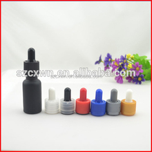 china supplier black frosted essential oil 30ml glass dropper bottle 15ml 20ml 30ml ejuice childproof tamper cap dropper bottle