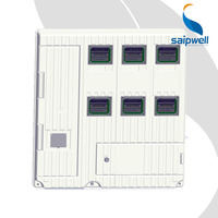 SAIP/SAIPWELL New Product Six Units Plastic Box Enclosure Electronic Three-Phase Electric Meter Box
