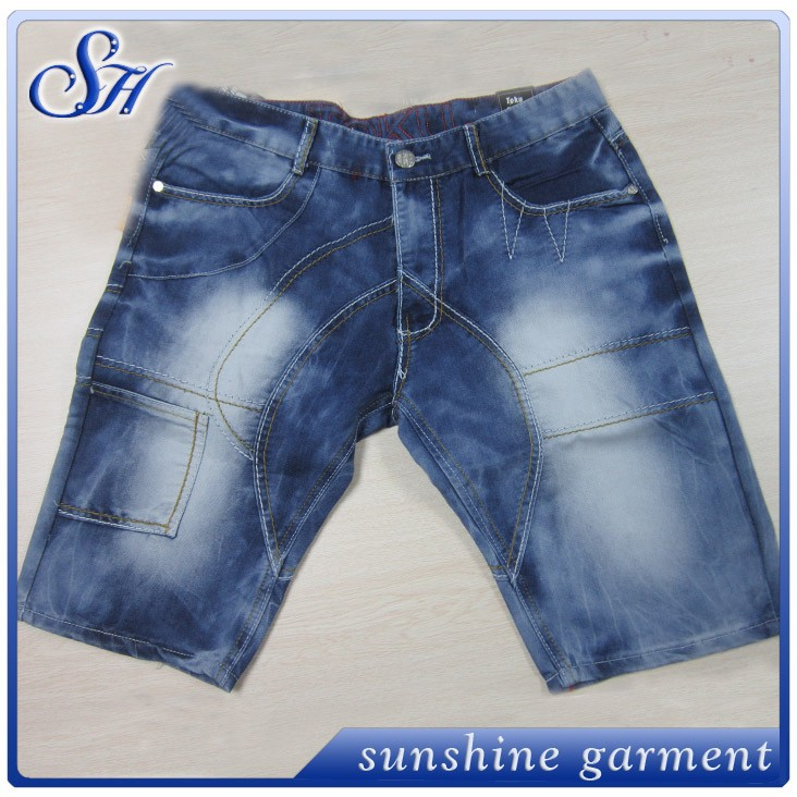 new fashion design hot sale denim cargo mens shorts argo shorts