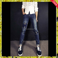 2015 new style fashion boy jeans from guangzhou china/ Fashional men patches funky men jeans