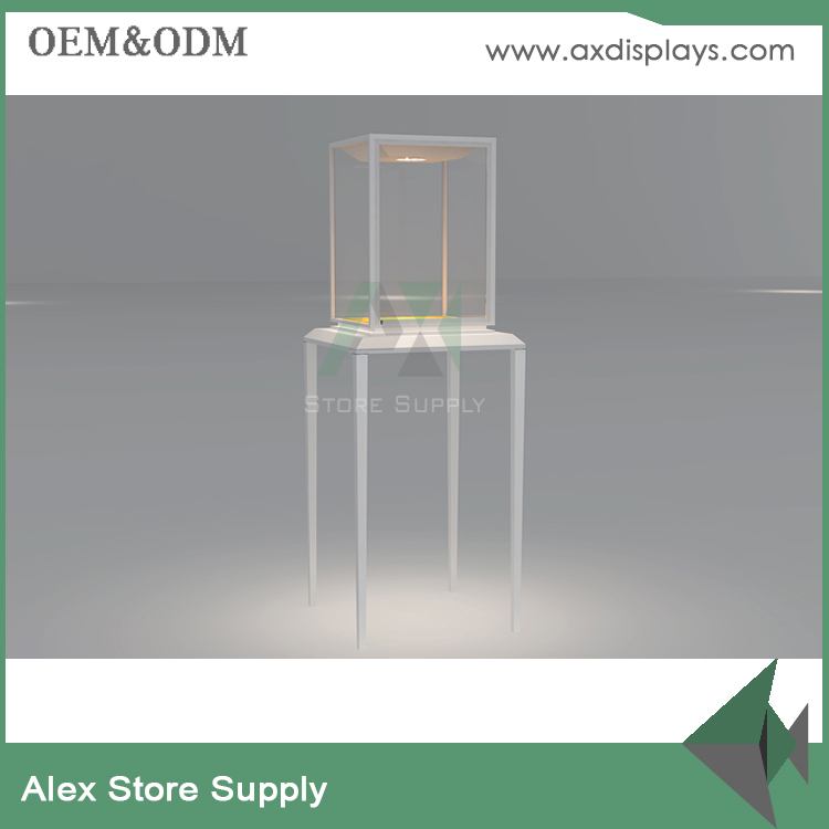 jewelery display showcase kiosk and glass tower cabinet for jewelry store