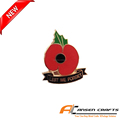 poppy soldier lest we forget badge, enamel poppy badge lapel pins