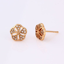 24692 Xuping jewelry costume jewels flower-shape strass earrings for women