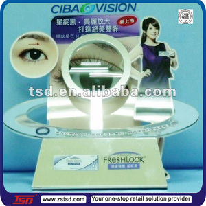 TSD-A191 Eye catching acrylic contact lens POP display/optical shop equipment/plexiglass point of sale counter top display