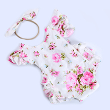 Hot selling occident floral print tutu romper