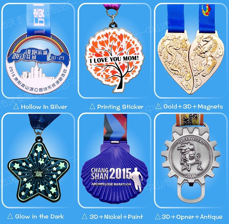 Hot sale custom making awards metal souvenir sports medals WM1055
