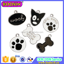 Lovely Dod Foot Print Pet Charm Alloy Animal Jewelry For Beloved Pet Wholesale 2015