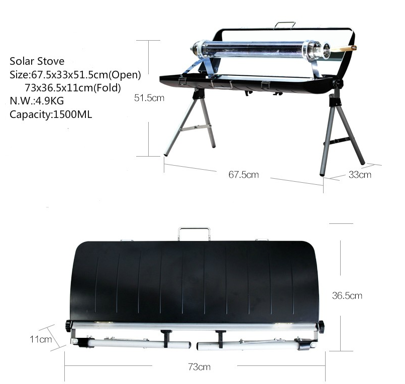 Factory direct sale Multi-function 2015 new design ,Portable Solar Oven,Table Top Solar Stove
