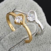 18 carat yellow gold plated couple wedding rings,stern engagement rings catalogue(AM-J27033)