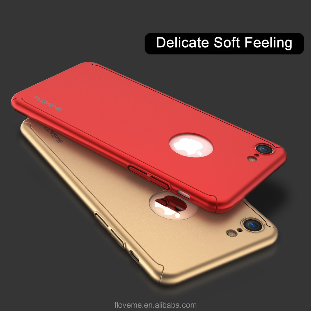 2017 New Arrival Light Weight Thin Funky 360 Degree Full Cover Protected PC Mobile Phone Case For Iphone 7/7plus