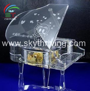 wholesale crystal piano music box for wedding gifts