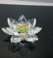 glass crystal lotus flower for wedding