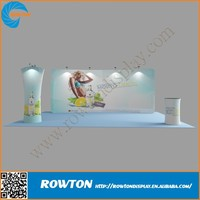 Curved tension fabric structures fabric display rack for ehxibition