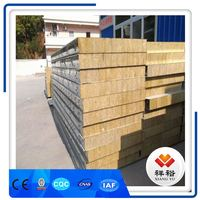 2017 new type hot sale High Quality Building Material Rock Wool Sandwich panel 150mm