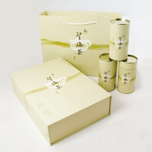 luxurious tea cardboard box package with embossing printing