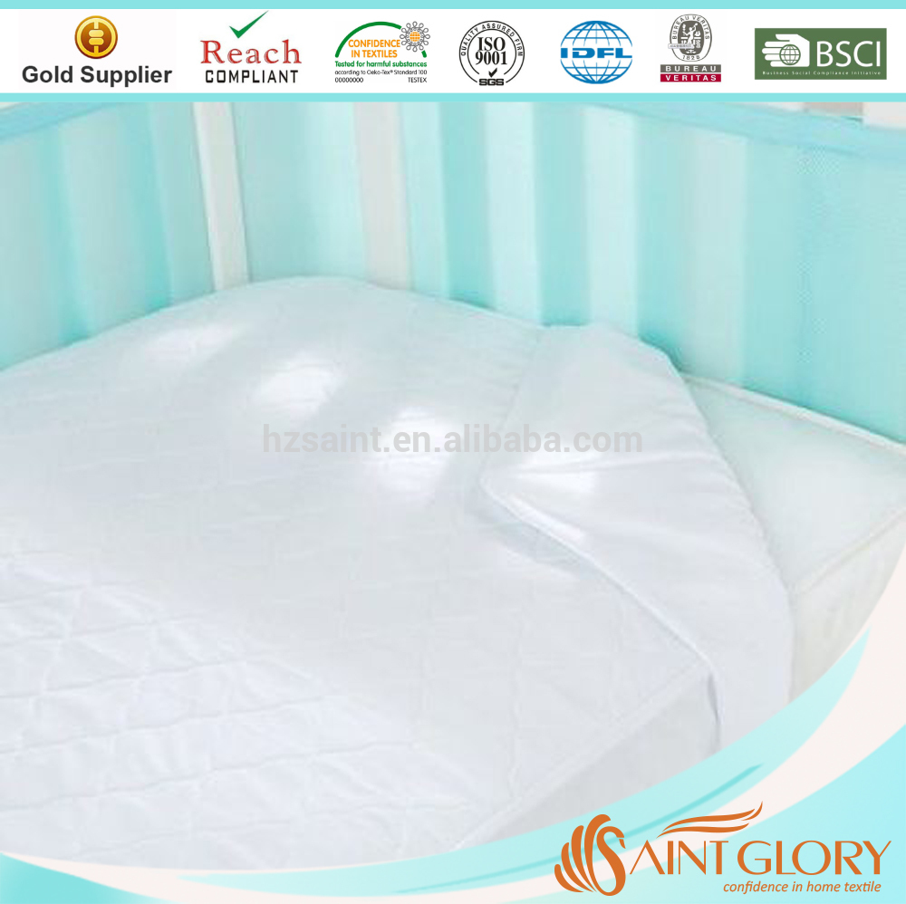 Waterproof Quilted Baby Using Mattress Pad Cover Protector Crib Waterproof Mattress Pad