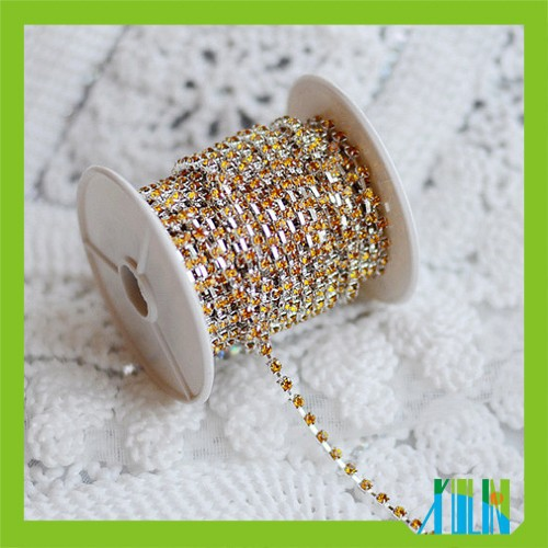 DIY milt- colour sparse rhinestone brass cup chain