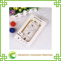 iphone shell paper packaging box with PVC display window