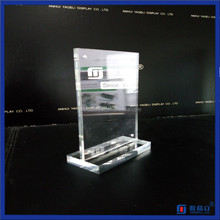 New Design Standing Clear Acrylic Price Tag Holder with Magnet Table Stand