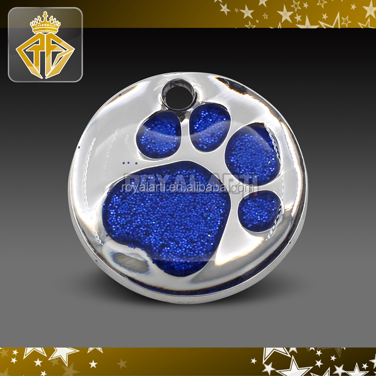 Wholesale Glitter Enamel Pet ID Tags Custom Brass Dog Tags