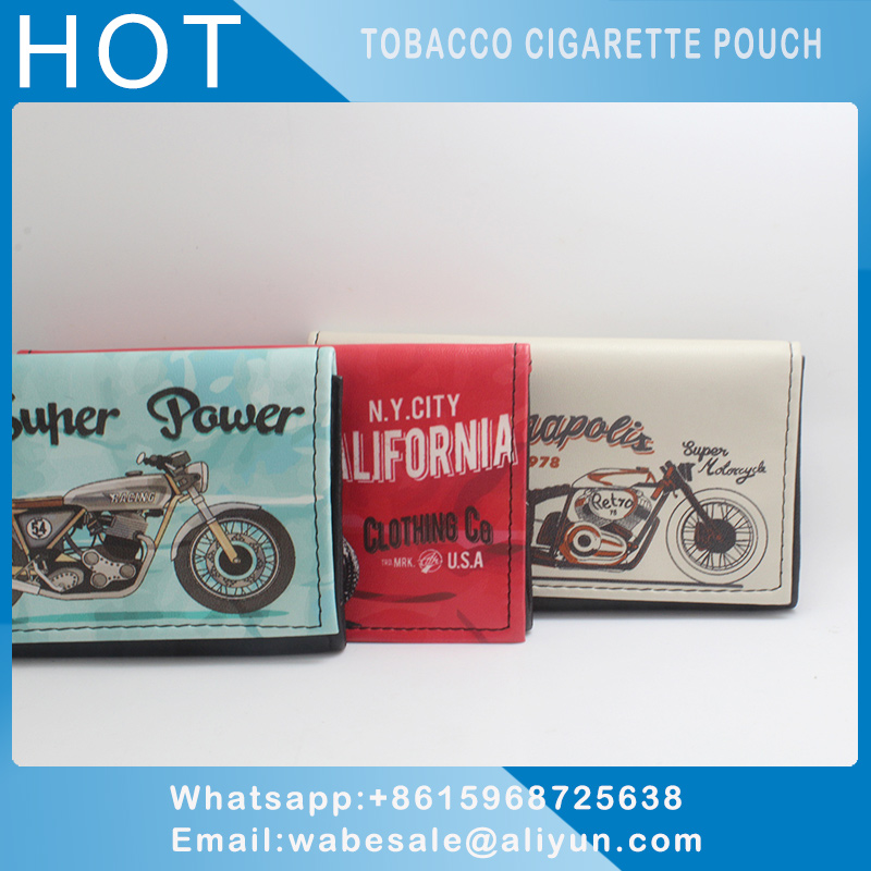 Leather Cigarette Pouch For Tobacco Pouch Holder With Simply Stylish