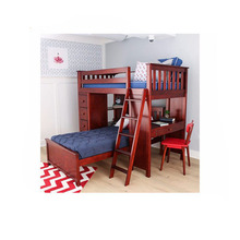 2017 hot sale wooden home furniture mini double bunk bed for children