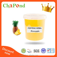 Pineapple Flavor Juice Popping Boba For Bubble Tea And Snow Ice