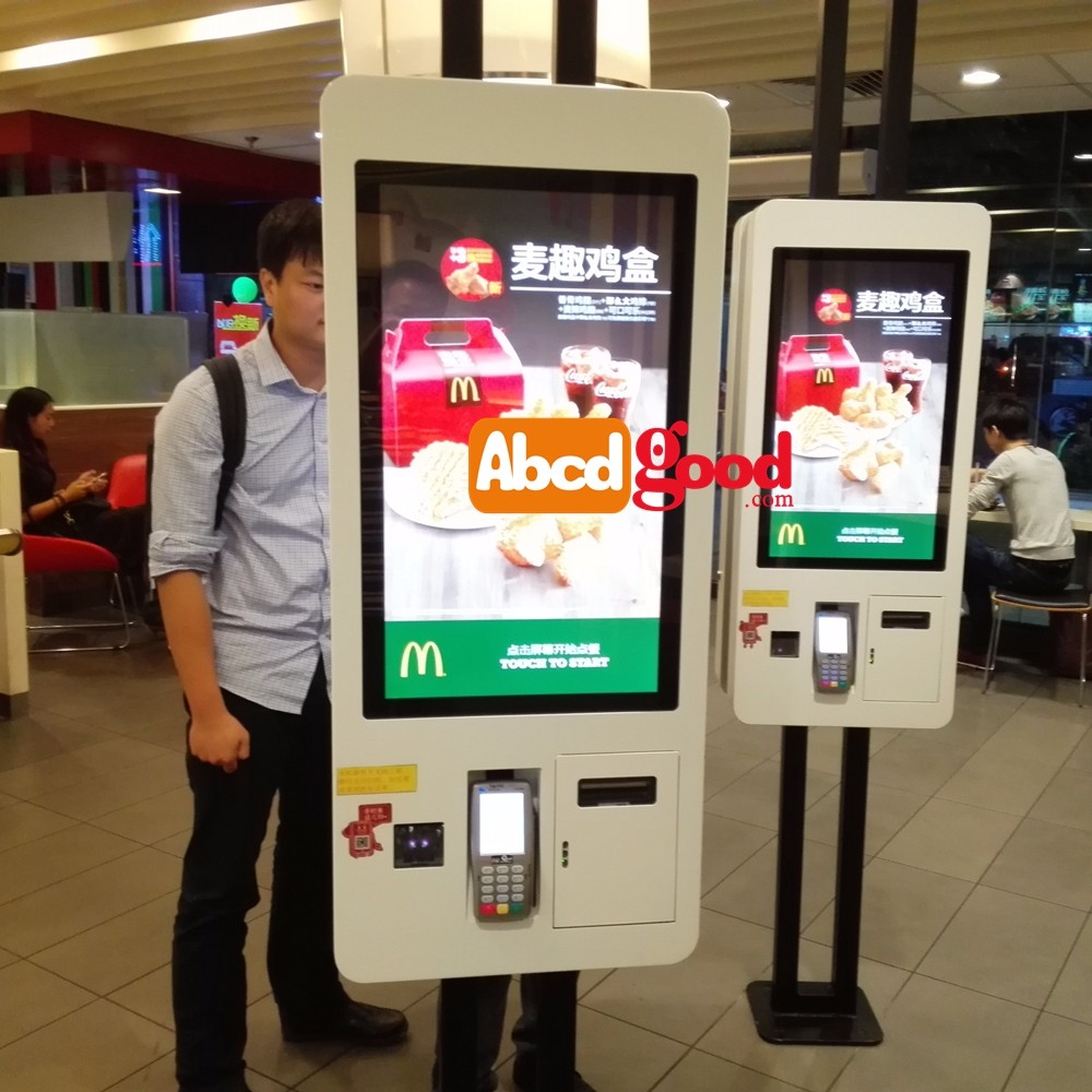Self Service Kiosks restaurant digital menu boards with touch screen