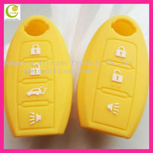 High Quality Silicone Soft Rubber 3 buttons flip remote key shell,silicone key case for nissan flip key shell