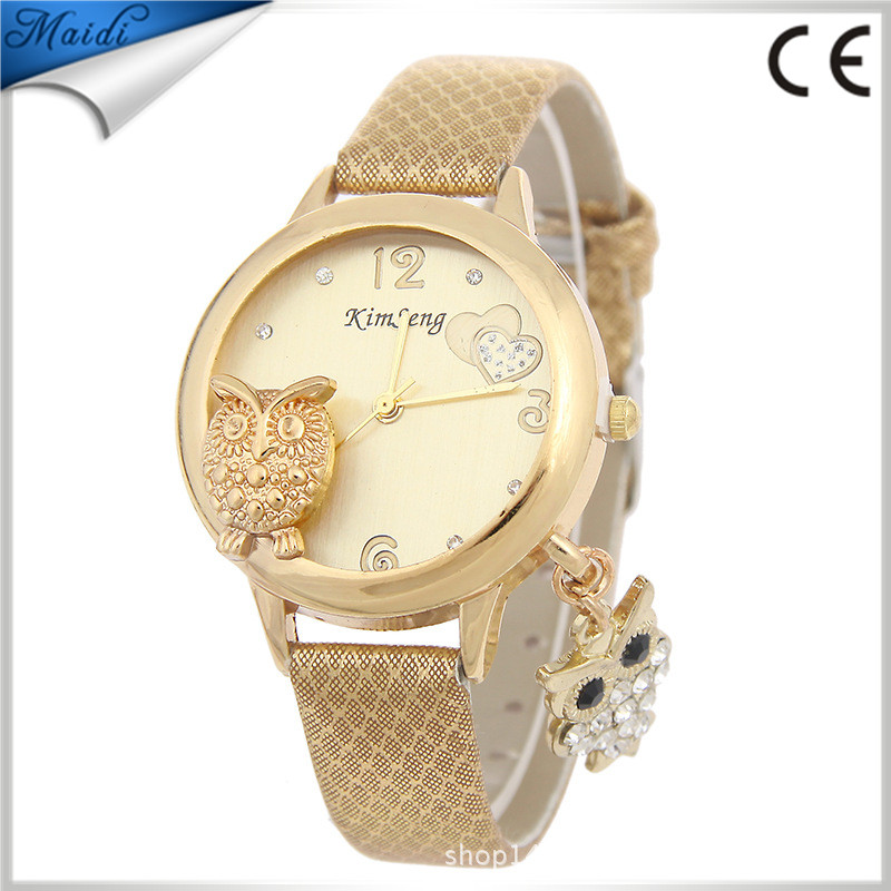 Reloj Vogue Owl Watch Women Quartz Ladies Wrist Watch 2016 Fashion Leather Band Casual Ladies Watches LW052