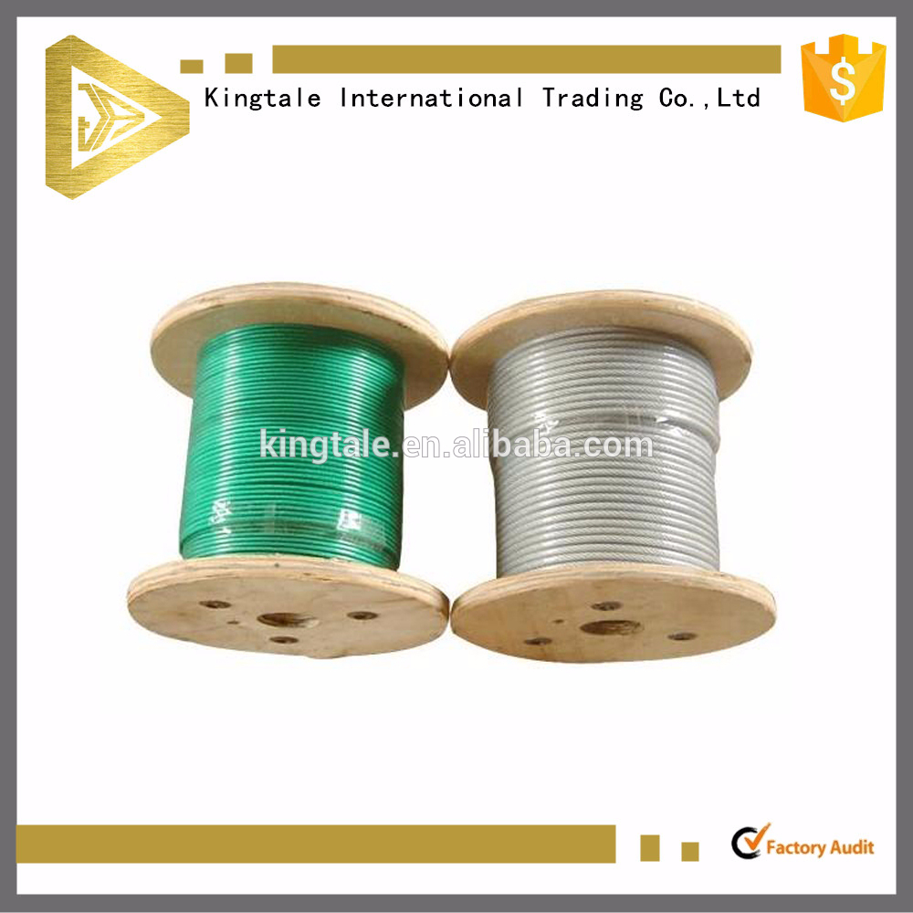 tpu pvc pp coated stainless steel wire cable in reel