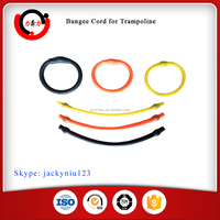 Dipped elastic bungee cord loop for trampoline