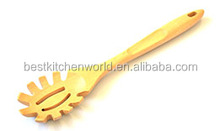 Hot Sales Rubber Wood Material Spaghetti Servers
