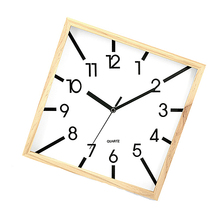 Handmade Wooden Fashion Wall Clock for living room home decor