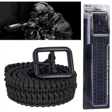 KongBo 2016 hot new spool outdoor 7strands Military 550 survival paracord belt for hiking