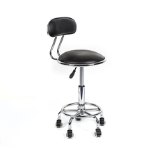 Height adjustment swivel salon chair Metal bar stool with wheel